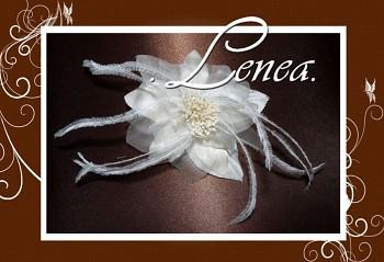 Květ do vlasů s peříčky-ivory