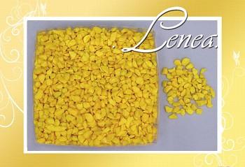 Dekorační kamínky- drť žlutá