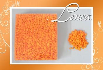 Dekorační kamínky- drť oranžová