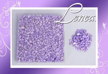 Dekorační kamínky- drť světle fialová