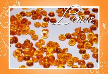 Dekorační kapky rosy-oranžové