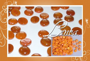 Dekorační nugety-čočky-oranžové