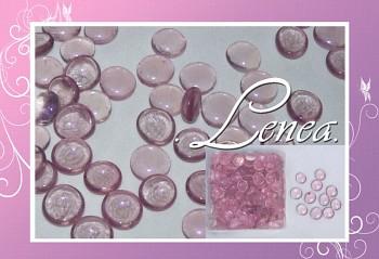 Dekorační nugety-čočky-růžovofialové