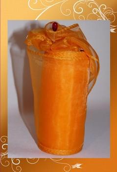 Organza 12cm-A51-oranžová