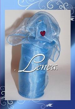 Organza 12cm-B18-modrá