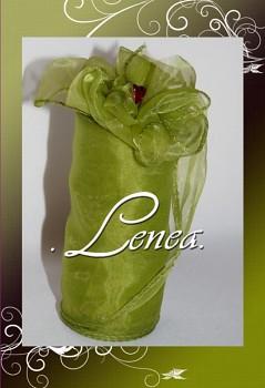 Organza 12cm-A31-zelená