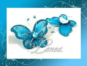 Motýl se zavíracím špendlíkem-modrý