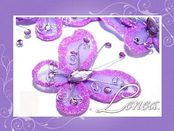 Motýlek -fialový světlý (ST)