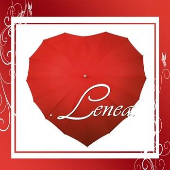 Deštník-Srdce červené