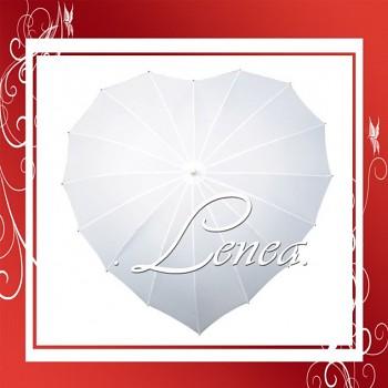 Akce!!-Svatební deštník-Srdce bílé