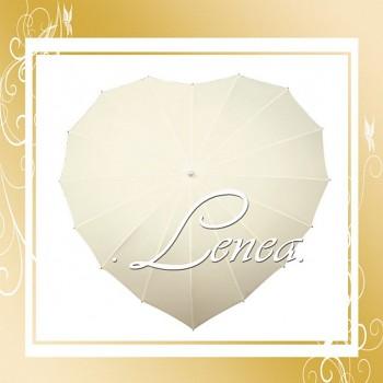 Deštník-Srdce smetanové