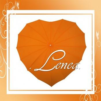 Deštník-Srdce oranžové