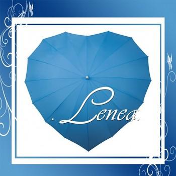 Deštník-Srdce světle modré