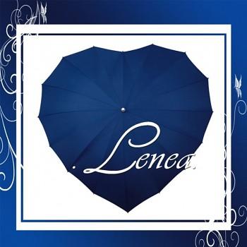 Deštník-Srdce tmavě modré