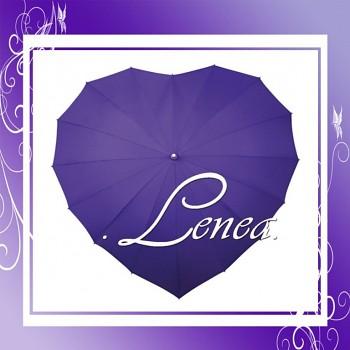 Deštník-Srdce fialové
