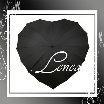 Deštník-Srdce černé