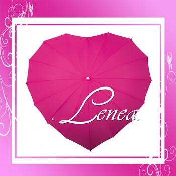 Deštník-Srdce tmavě růžové