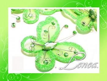 Motýlek-zelený (ST)