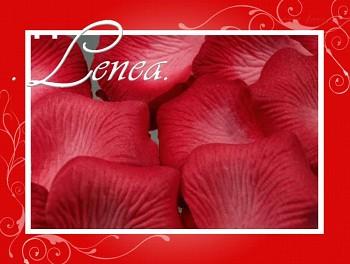 Okvětní plátky-červené