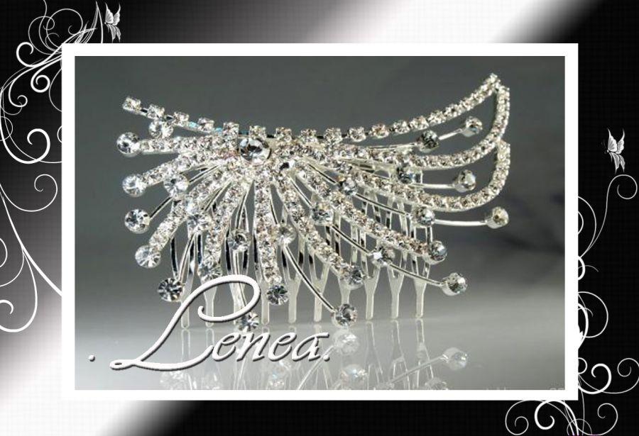Hřebínek do vlasů-štrasový-50x90mm - Svatební doplňky a dekorace ... 3722168417