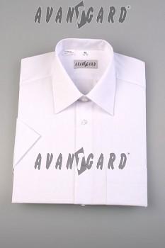 Pánská košile klasik  bílá dlouhý rukáv