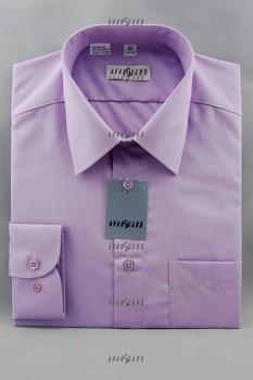 Pánská košile klasik dl.r.-fialová střední