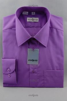 Pánská košile klasik dl.r.-fialová tmavá