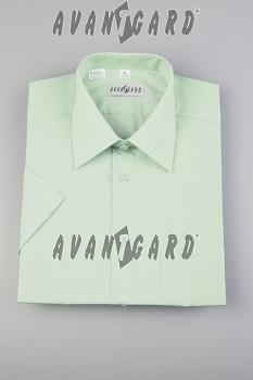 Pánská košile klasik dl.r.-zelenkavá