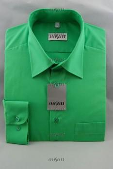 Pánská košile klasik dl.r.-zelená