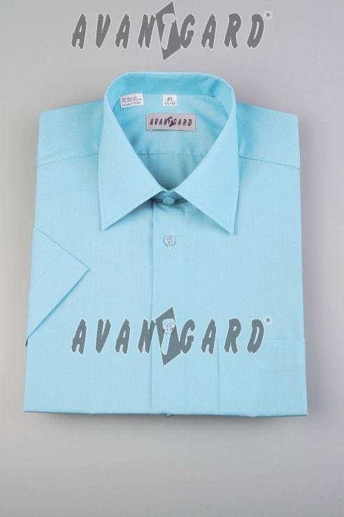 Pánská košile klasik dl.r.-tyrkysová sv. - Svatební doplňky a ... e8f7255a05