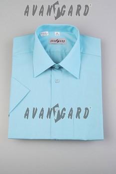 Pánská košile klasik dl.r.-tyrkysová sv.