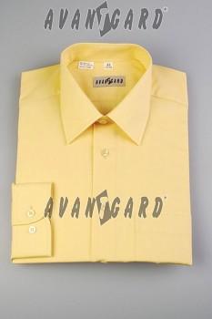 Pánská košile klasik dl.r.-světle žlutá