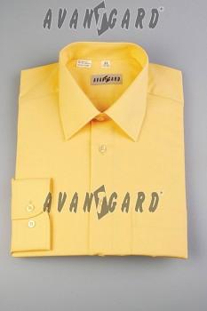 Pánská košile klasik dl.r.- žlutá