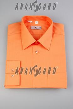 Pánská košile klasik dl.r.- pomerančová