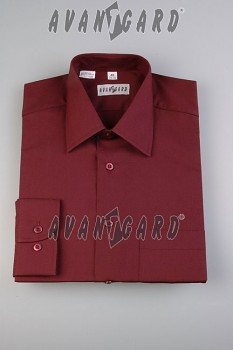 Pánská košile klasik dl.r.- bordó