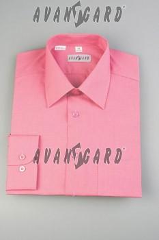 Pánská košile klasik dl.r.- růžová