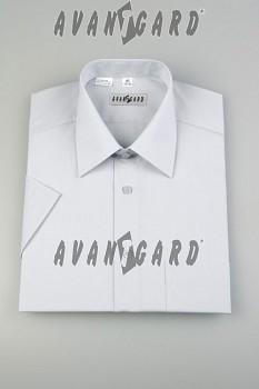Pánská košile klasik dl.r.-světle šedá