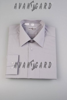 Pánská košile klasik dl.r.- šedá