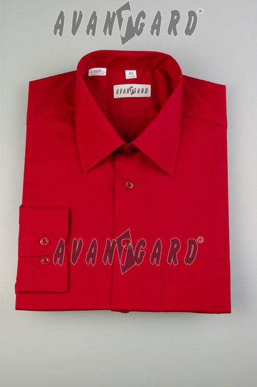 a54fcb45fd8 Pánská košile klasik červená-dlouhý rukáv - Svatební doplňky a ...
