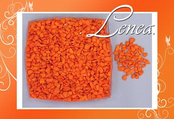 Dekorační kamínky- drť oranžová tmavá