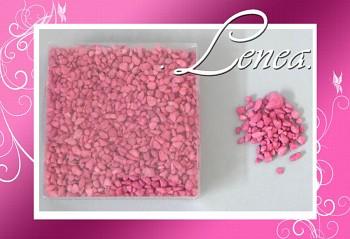 Dekorační kamínky- drť růžová-fuchsie