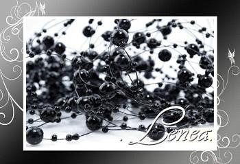 Perličky na silonu-černé