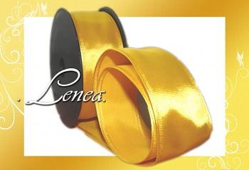 Saténová stuha š.4cm-žlutá
