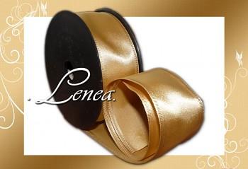Saténová stuha š.4cm-zlatá