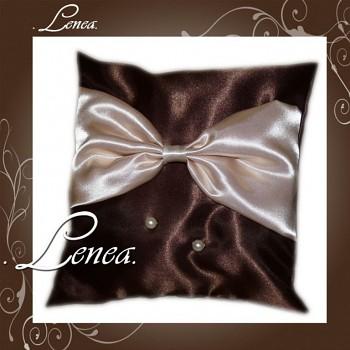 Svatební polštářek na prstýnky-Čokoládový