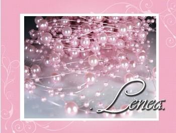 Perličky na silonu -růžové 10ks