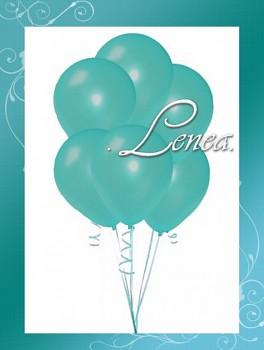 Balónek nafukovací-tyrkysový