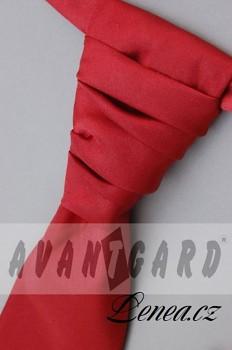 Regata Premium s kapesníčkem-červená 7540