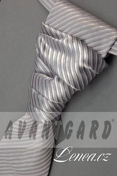 Regata Premium s kapesníčkem-stříbrná 577020