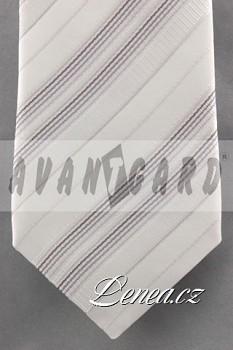 Kravata klasik-bílá 7100